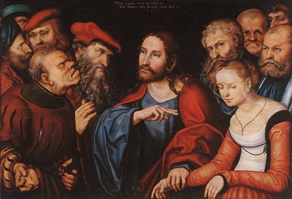 The elder christ and the adulteress